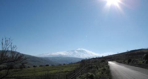 A beautiful view from the north side of volcano Etna, Sicily, Italy